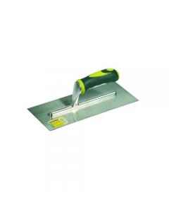 Maurer frattone in acciaio liscio con manico in gomma dimensioni mm 280 x 120