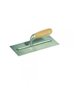 Maurer frattone in acciaio liscio con manico in legno dimensioni mm 280 x 120