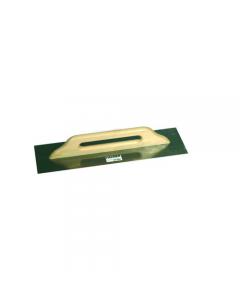 Maurer frattone rettangolare in acciaio tipo tedesco con manico in legno mm 480 x 140