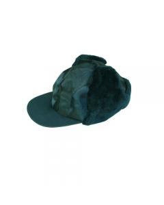 Maurer Grizzly abbigliamento da lavoro per edilizia berretto con frontino colore blu in nylon gommato antipioggia con paraorecchi foderati con pelliccia taglia unica