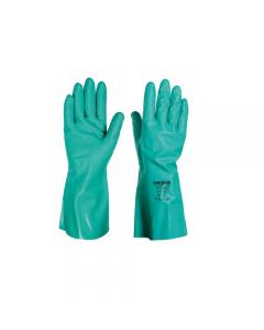 Maurer guanti da lavoro in nitrile verde tipo lungo