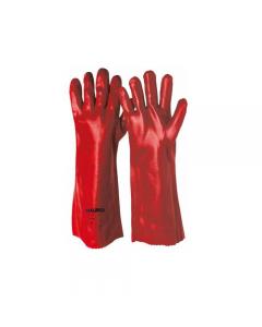 Maurer guanti da lavoro in pvc rosso taglia 10