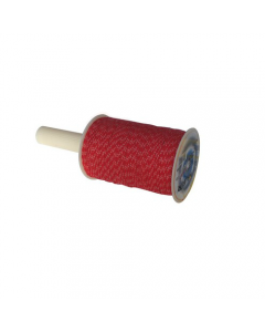 Maurer lenza per muratori con avvolgitore in polipropilene ad alta tenacità bobina 250 metri colore bianco/rosso
