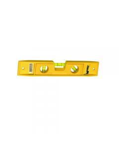 Maurer livella in plastica 3 bolle con base magnetica colore giallo lunghezza mm 230. 6 pezz