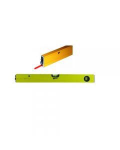 Maurer livella laser in alluminio 2 bolle a 3 puntamenti lunghezza 60 cm