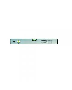 Maurer Magnetic Plus livella in alluminio 2 bolle colore grigio base magnetica sezione mm 50 x 22