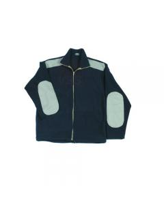 Maurer Merida giacca in pile colore blu con inserti cotone beige 100% poliestere chiusura con zip lunga 2 tasche con fodera