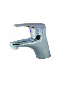 """Maurer miscelatore per lavabo con scarico acqua in ottone cromato completo di tubi flex 3/8"""" femmina"""