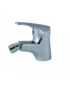 """Maurer miscelatore rubinetto per bidet con scarico acqua in ottone cromato completo di tubi flex 3/8"""" femmina"""
