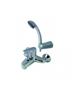 """Maurer miscelatore rubinetto per vasca da bagno con doccetta in ottone cromato attacco 1/2"""" maschio"""