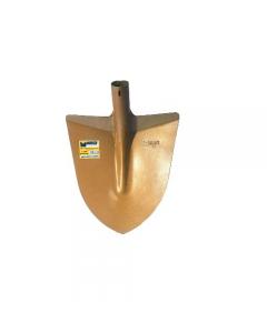 Maurer N. 00 Attrezzi per edilizia. Badile a punta con spalla rinforzato a norme DIN in acciaio temperato verniciato oro. Dimensioni cm 29 x 28,5 peso 0,95 kg. 12 pezzi.