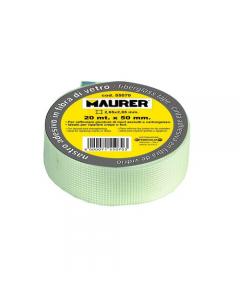 Maurer nastro adesivo in fibra di vetro per cartongesso maglia mm 2,85 x 2,85 colore bianco
