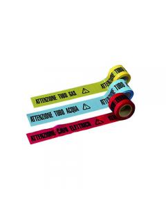 Maurer nastro stampato per cantiere attenzione tubo gas attenzione tubo acqua attenzione cavo elettrico