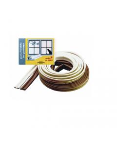 Maurer parafreddo in gomma per porte e finestre in gomma autoadesivo con profilo P lunghezza 6 metri bianco o marrone. 50 pezzi