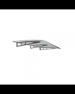 Maurer pensilina in policarbonato solido trasparente. Struttura in alluminio. Per porte e finestre. Di facile montaggio. Completa di 3 mensole in alluminio, guarnizioni e viti di montaggio. Lastra di copertura in policarbonato solido trasparente di spesso