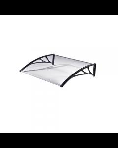 Maurer pensilina in policarbonato solido trasparente. Per porte e finestre. Di facile montaggio. Completa di 2 mensole in polipropilene, guarnizioni e viti di montaggio. Lastra di copertura in policarbonato solido trasparente di spessore mm 2.7. Prodotto