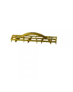 Maurer pialla per gesso in alluminio verniciato con 8 robuste lame raschiatrici dimensioni mm 500 x 85