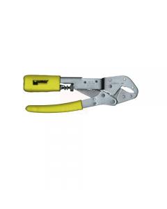 Maurer pinza grip automatica a ganasce curve in acciaio nichelato mm 230. Manici rivestiti in pvc.