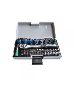 Maurer Plus cassetta set chiavi a bussola 35 pezzi