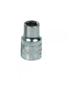 Maurer Plus chiave a bussola esagonale attacco 1/4 in acciaio al cromo vanadio. Blister da 5 pezzi.