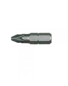 """Maurer Plus inserto a croce Pozidriv mm 25 per avvitatore. Attacco 1/4"""". In acciaio S2 al cromo vanadio sabbiato. 10 pezzi."""