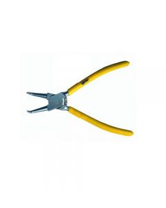 Maurer Plus pinza per anelli interni a becchi piegati. In acciaio al cromo vanadio satinato. Manici rivestiti in pvc.