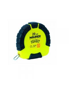 Maurer Plus Project rotella metrica cassa in abs con inserti in gomma e nastro in acciaio verniciato. Dimensioni: mm 9,5 x 20 metri