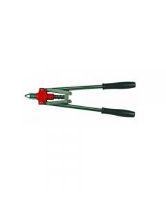 Maurer Plus rivettatrice con manici lunghi mm 520 a 4 testine diametro mm 2,4 - 3,2 - 4,0 - 4,8.