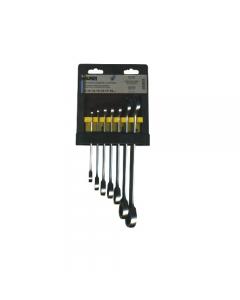 Maurer Plus serie di chiavi combinate a cricchetto a 72 denti in acciaio al cromo vanadio. serie da 7 pezzi da mm 8 a mm 19.
