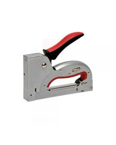 Maurer Plus TS5592 fissatrice a scatto. Corpo in metallo. Impugnatura ergonomica rivestita in gomma morbida. Punti n.3 (4-14 mm).