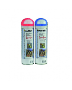 Maurer Plus vernice traccialinee per cantiere colori fluorescenti bu / rosso bombola da 500 ml