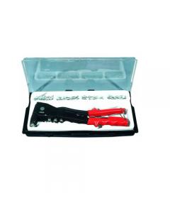 Maurer rivettatrrice in kit fornita con astuccio in plastica con 60 rivetti. 4 testine mm 2,4 mm 3,2 mm 4 mm 4,8.