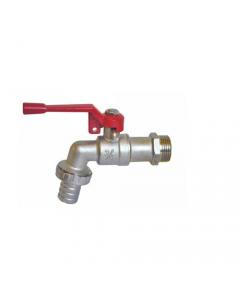 Maurer rubinetto a sfera con portagomma con maniglia a leva con chiusura per lucchetto in ottone sbiancato