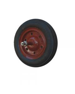Maurer ruota in gomma piena per carriola nucleo in acciaio diametro mm 350 x 80 asse lungo