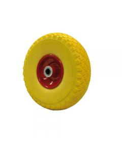 Maurer ruota piena in poliuretano giallo per carrelli nucleo in acciaio diametro mm 260 x 85