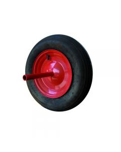 Maurer ruota pneumatica per carriola ribaltabile e agricola nucleo in acciaio diametro mm 350 x 80 asse lungo