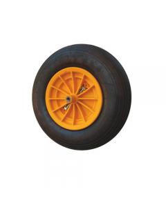 Maurer ruota pneumatica per carriola vasca in plastica nucleo in plastica antiurto diametro mm 350 x 80 asse corto