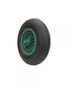 Maurer ruota pneumatica per carriola vasca plastica 70691 nucleo in plastica antiurto diametro mm 400 x 80 asse corto