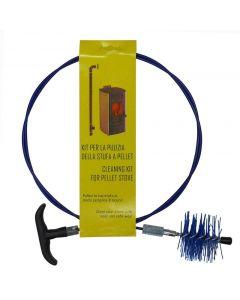 Maurer scovolo in nylon per la pulizia tubo di stufe a pellet lunghezza mm 2000. Setole in nylon alta resistenza. Prolunga in vetroresina con impugnatura. Diametro mm 80.