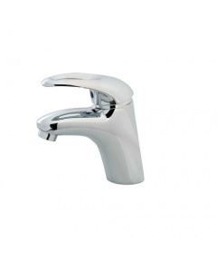 """Maurer Sorgente rubinetto miscelatore per lavabo con scarico in ottone cromato completo di tubi flex 3/8"""" femmina"""