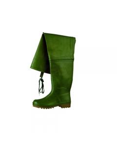 Maurer stivali in gomma a coscia colore verde suola a carrarmato