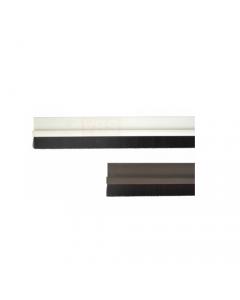 Maurer striscia sottoporta para spifferi in pvc rigido con spazzolino lunghezza cm 100 colore bianco o marrone