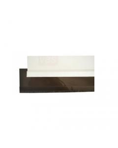 Maurer striscia sottoporta paraspifferi in pvc flessibile con feltrino lunghezza 100 cm colore bianco o marrone