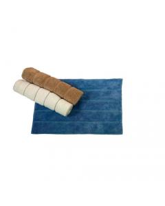 Maurer tappeto da bagno cm 50 x 70 cotone 100% colore avorio beige azzurro