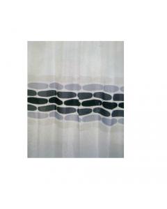Maurer tenda per doccia fantasia sassi grigi completa di ganci di fissaggio in tessuto poliestere impermeabile
