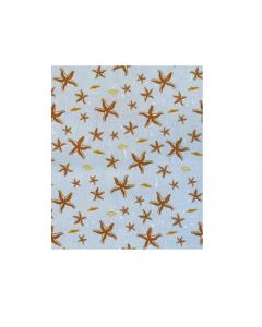 Maurer tenda per doccia fantasia stelle marine completa di ganci di fissaggio in tessuto poliestere impermeabile