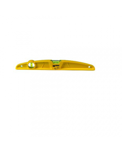 Maurer Tiler Plus livella in alluminio pressofuso 2 bolle colore giallo sezione trapezoidale mm 50 x 22