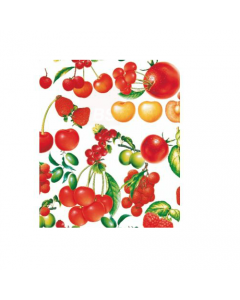 Maurer tovagliato felpato per ristorazione bar locali pubblici cucina tavola modello Frutti Rossi h cm 140 x lunghezza rotolo 20 metri