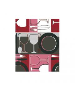 Maurer tovagliato felpato per ristorazione bar locali pubblici cucina tavola modello Tavola Rossa h cm 140 x lunghezza rotolo 20 metri