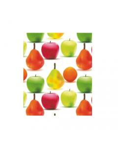 Maurer tovagliato in pvc trasparente modello Frutta spessore mm 0,18 lunghezza rotolo 20 metri altezza 140 cm